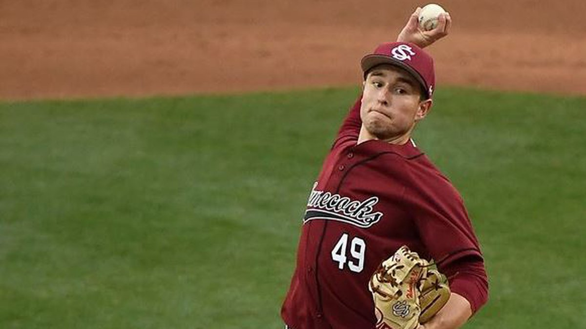 Gamecocks Pitcher Brett Kerry was selected in the 5th round of the MLB Draft. (South Carolina...