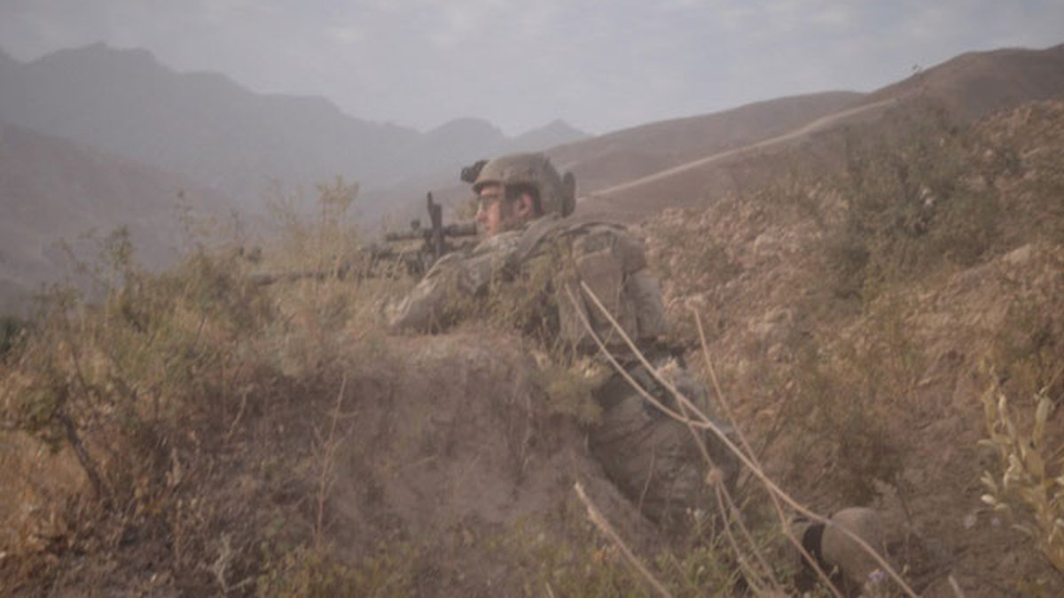 Sgt. Maj. Payne in Northern Afghanistan in 2014. Payne and his unit had been ambushed on this...