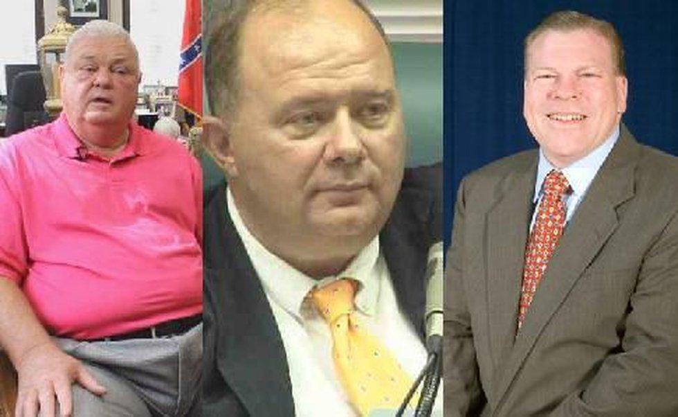 (L to R) SC Senator Jake Knotts, Lexington town councilman Danny Frazier, Lexington County...