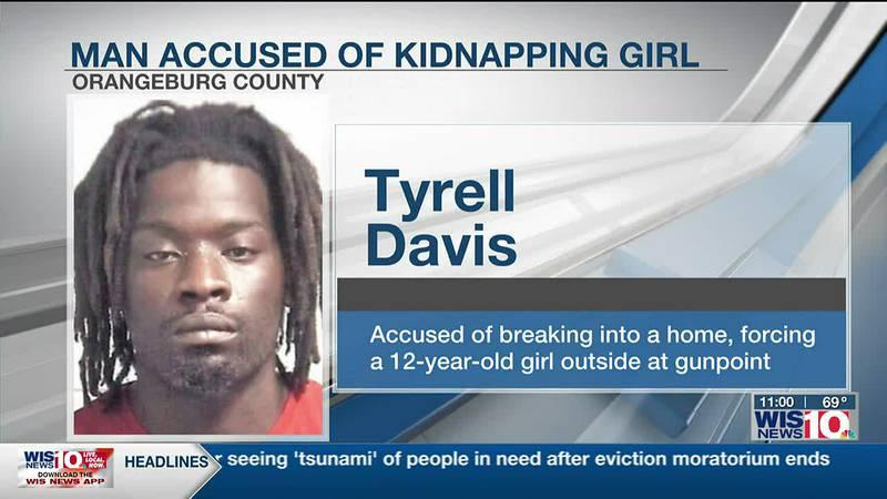 Orangeburg man accused of kidnapping 12-year-old at gunpoint