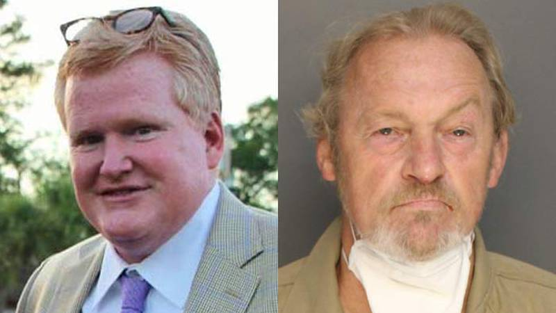 Attorney Alex Murdaugh (left) was shot on Sept. 4. Curtis Smith (right) has been charged in...