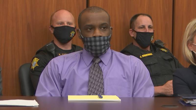 Nathaniel Rowland appeared in court for day 1 of his murder trial July 20, 2021.