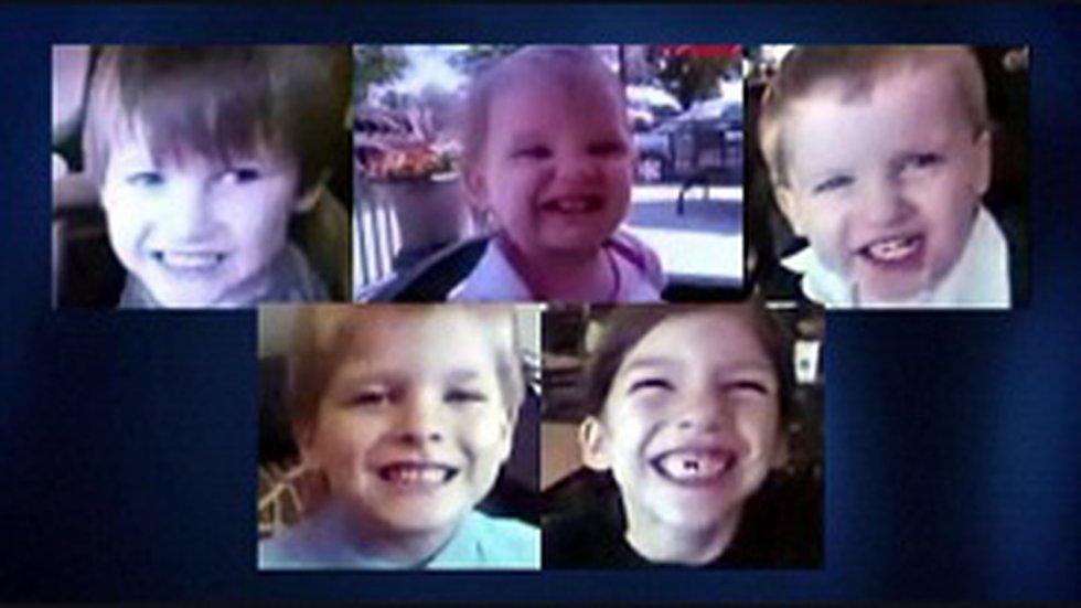 The bodies of Jones' five children were found in Alabama.