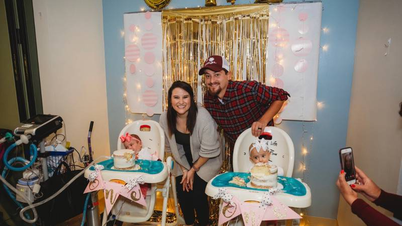 Wrenley and Oaklyn Hall were born at 25 weeks.