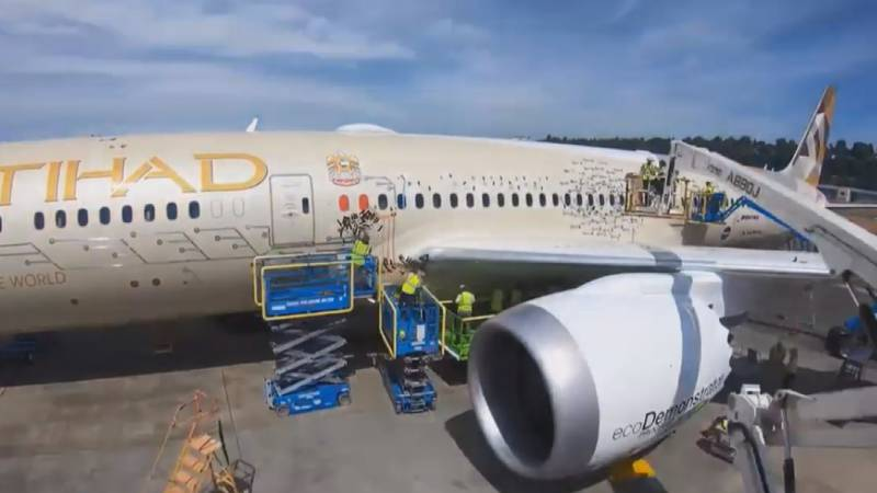 The aircraft manufacturer is partnering with Etihad Airways, NASA and Safran Landing Systems...