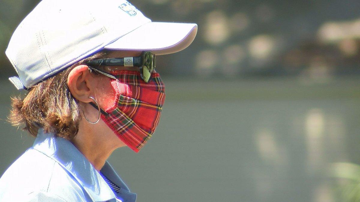 Tartan face mask at the 52nd RBC Heritage