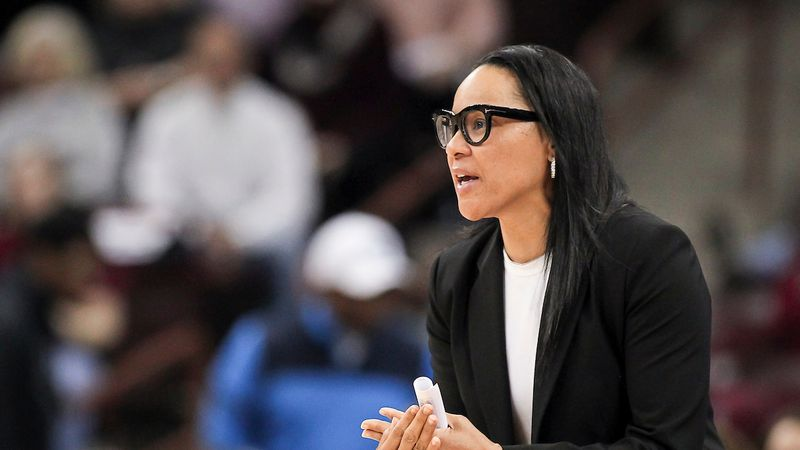 South Carolina head coach Dawn Staley is seen against Kentucky in Columbia, S.C. on Thursday,...