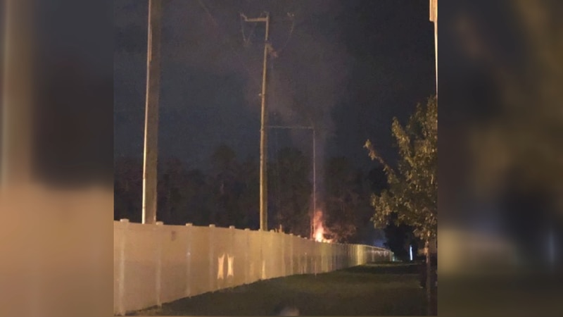 According to the sheriff's office, deputies first saw the flames on Tuesday night behind the...