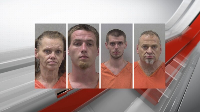 Four charged in Lexington County jail contraband case