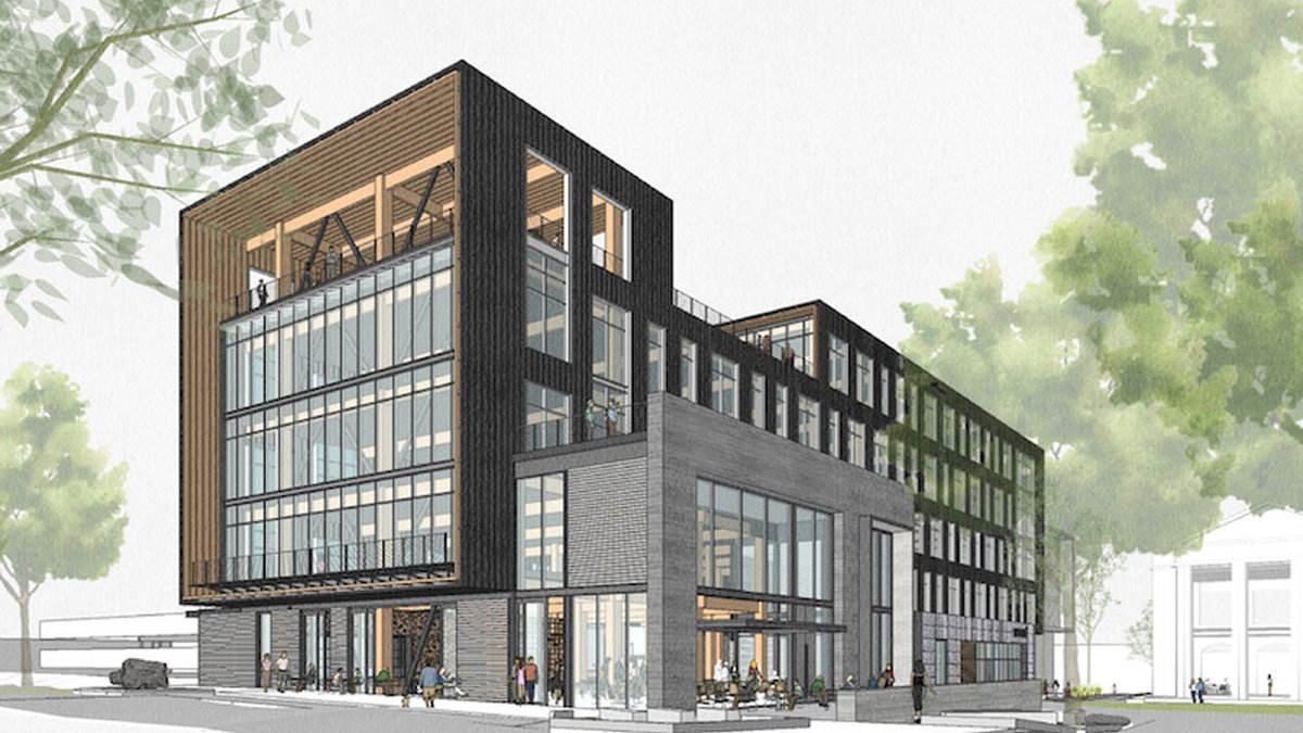 WestLawn's top two floors will be home to Robinson Gray Law Firm, and the bottom floor will...
