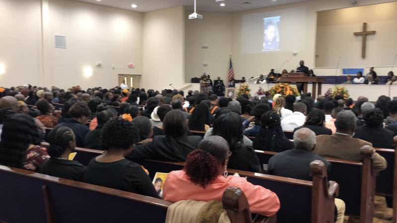 The Rembert community came together Saturday morning to say their final goodbye to Derrick...