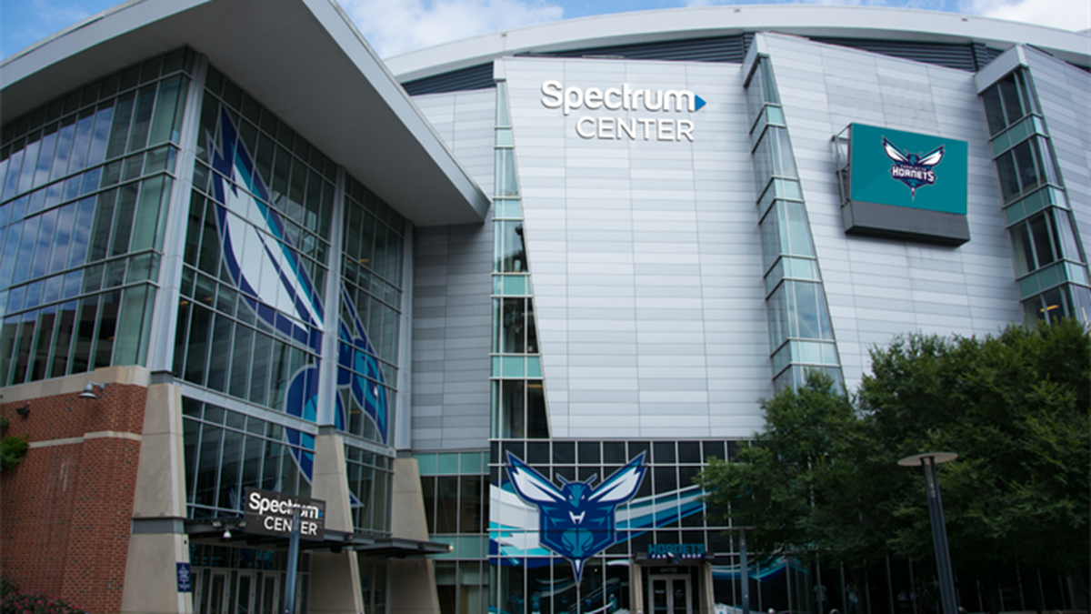 This is an exterior rendering of the new Spectrum Center signage (Courtesy of the Charlotte...