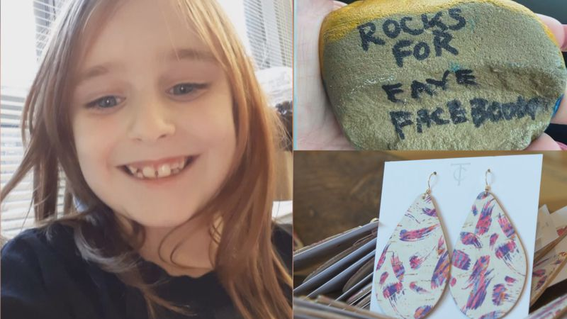 One year later, as people find the rocks or put on their earrings, the hope is they take a...