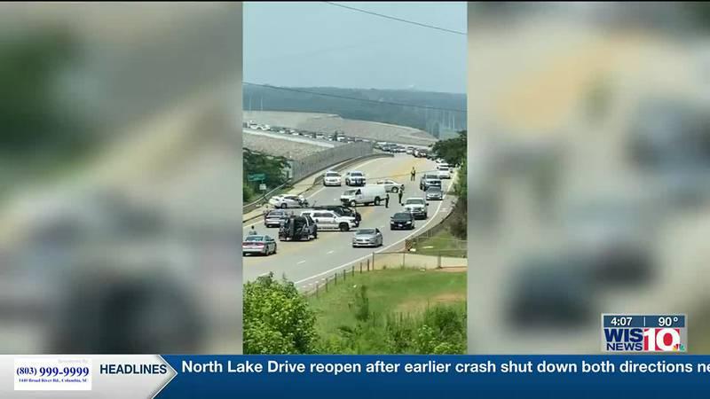 North Lake Drive reopen after earlier crash shut down both directions near Lake Murray Dam