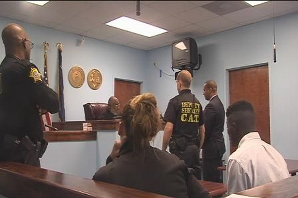 Attorney Todd Rutherford appears on behalf of Cynthia Hardy in court