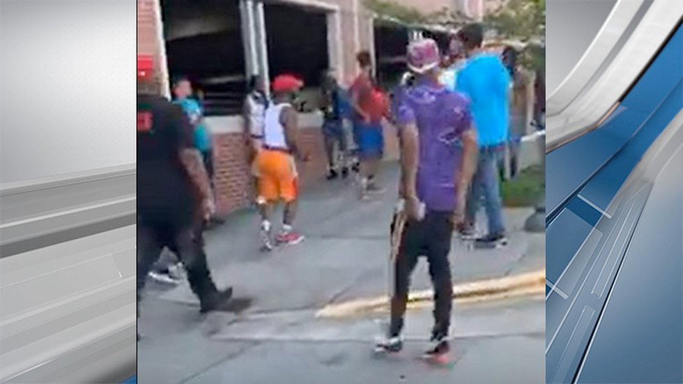 Deputies want to identify the man in the purple shirt and black pants, as well as the man in...