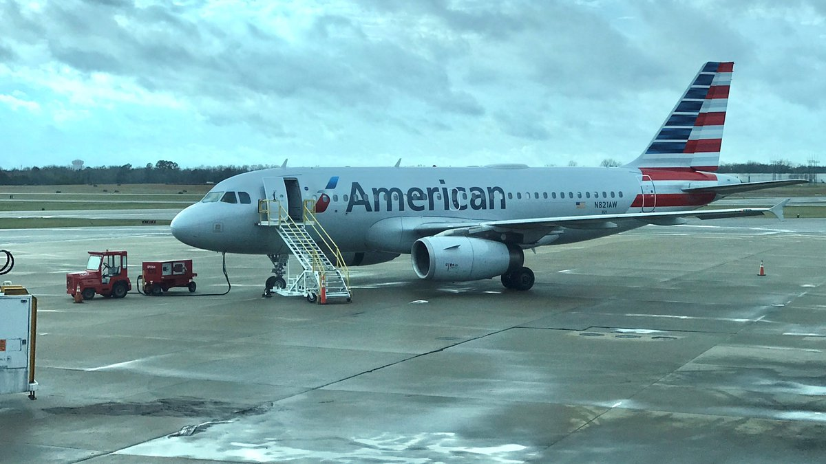 American Airlines flight No. 2083 on the tarmac at Montgomery Regional Airport (Source: WSFA)