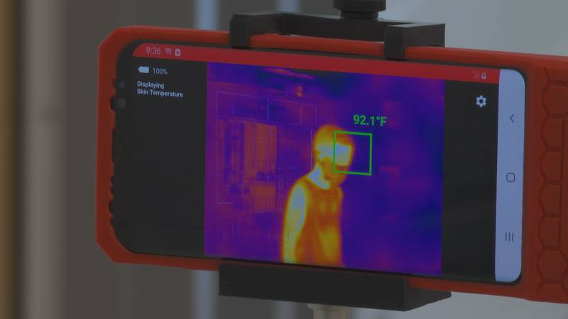Kershaw  County School District thermal temperature scans