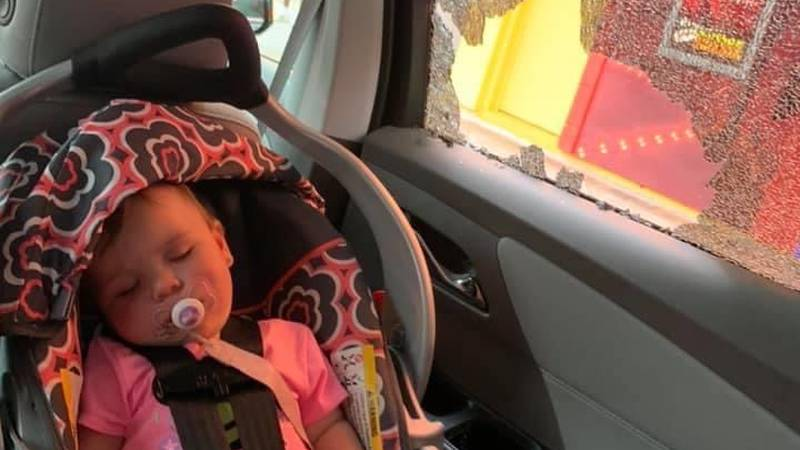 A 10-month-old child was nearly struck by a bullet during Sunday's shooting on Ocean Boulevard.
