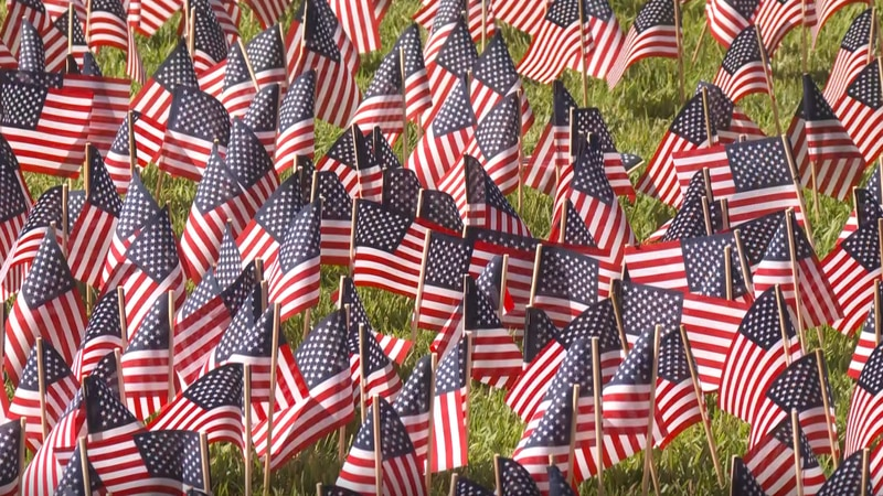 UofSC veterans groups plant 3,000 flags on campus to honor 9/11 victims