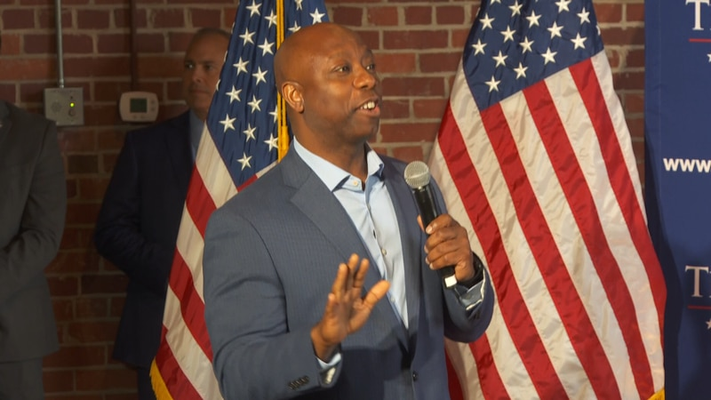 Sen. Scott launches reelection, wants to go back to the 'good 'ole days' of Pres. Trump
