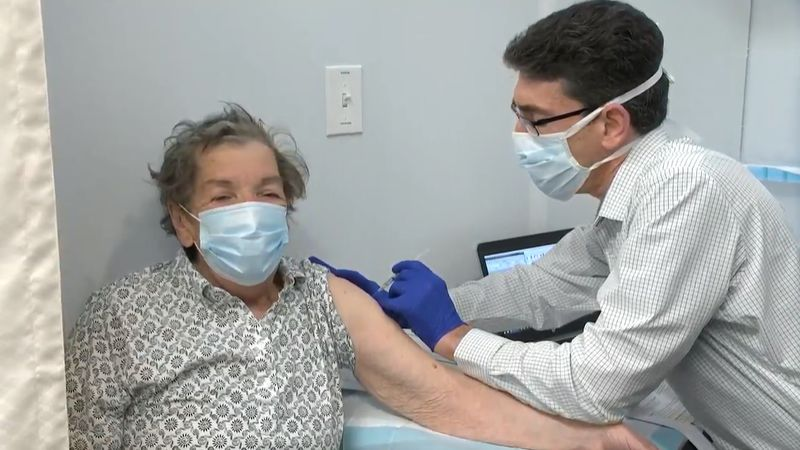 Ohioans 80 years old and older received their vaccinations as the first group in the general...