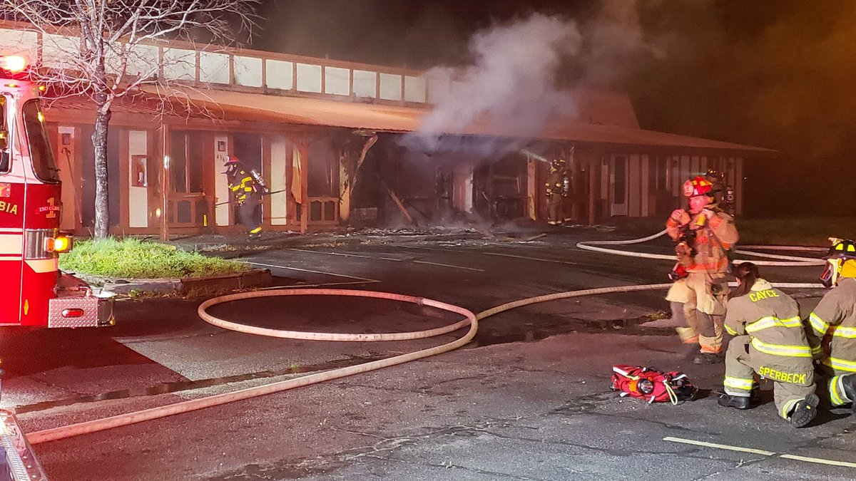 A fire at Knights Inn, which was closed in October, has been extinguished, according to...