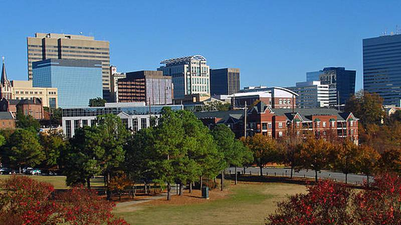 skyline of downtown Columbia, SC, USA from Arsenal Hill neighborhood from November 2010....