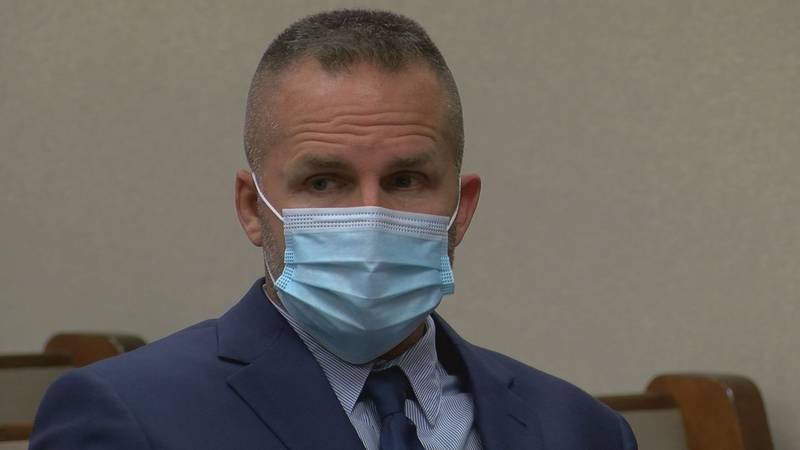 Former Louisville Metro Police Department detective Brett Hankison during an Oct. 28, 2020...
