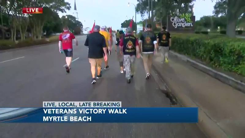 Veterans are hitting the road for a nearly 100-mile walk to Charleston.