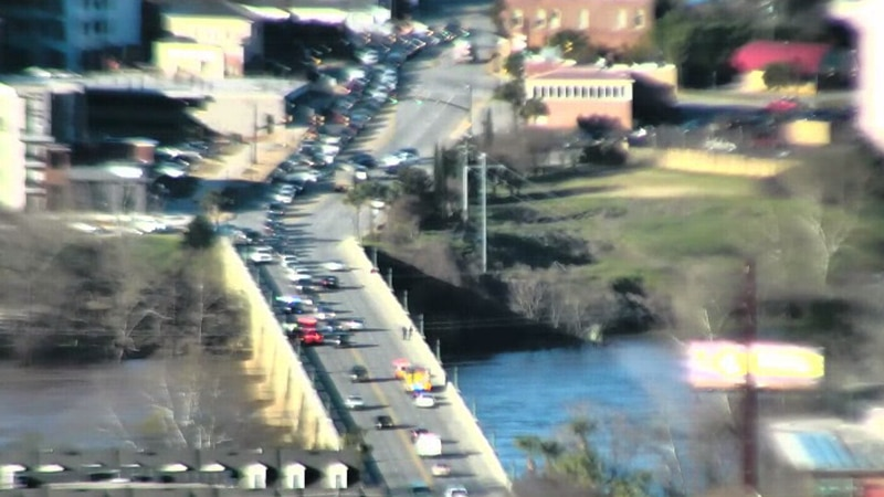 West Columbia Police are responding to a river rescue on the Gervais St. bridge.