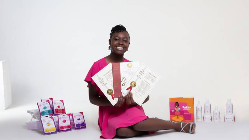 """Gabby Goodwin, a Columbia native, started her business """"Confidence"""" at the age of seven."""