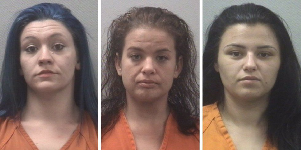 Pictured from left to right, Katie Leavitt, Sarah Steele, and Alexis Wilson were three of six...