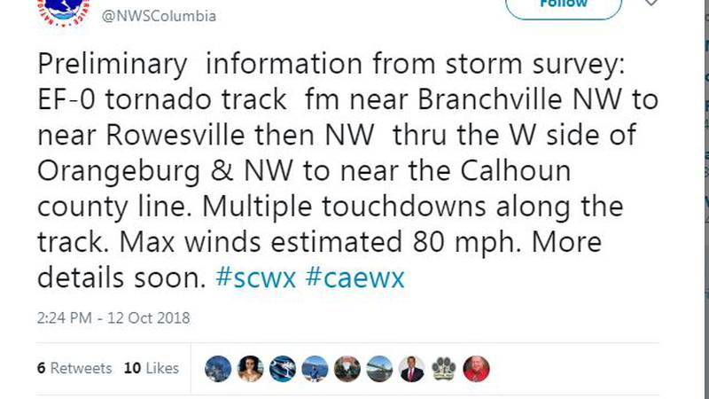 (Source: Twitter / National Weather Service)