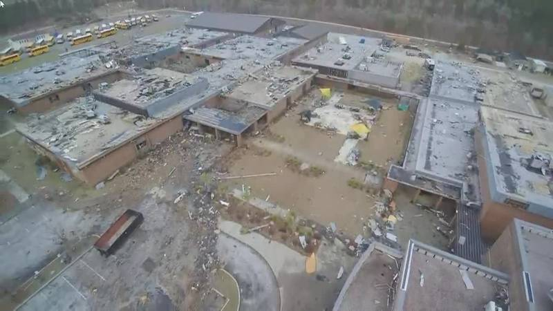 North Central High School drone video still Kershaw County WIS