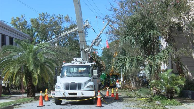 While Charleston residents had some damage to clean up, many were thankful it was minimal.