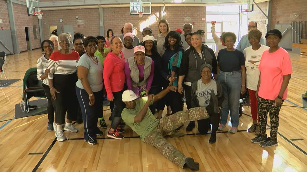 At 68 years-old Anderson leads several classes at Columbia's Drew Wellness Center.