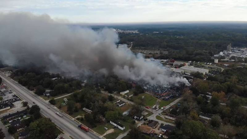 Officials say the fire was so massive, smoke from it could be seen from satellites.