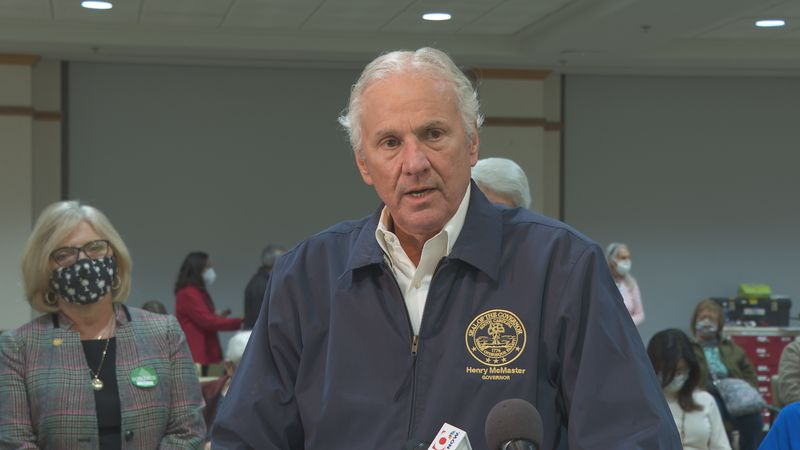 Governor McMaster says he will order hospitals to put off elective surgeries if vaccinations...