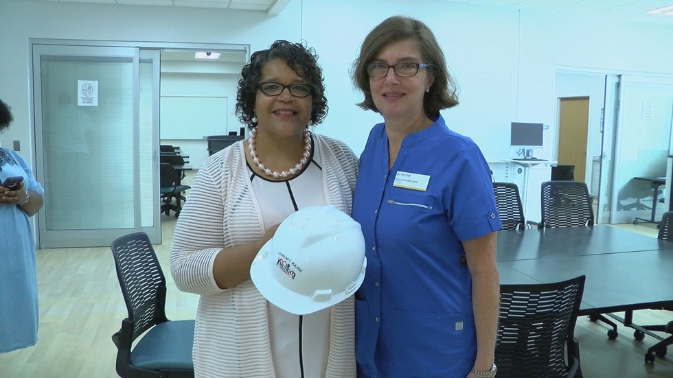 Shirley Bannister was named the Mungo Homes Community Builder for her work with prospective...