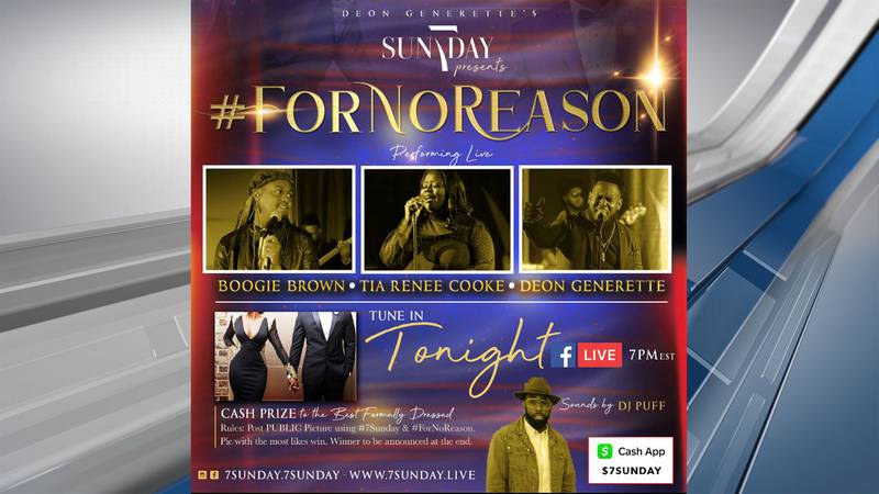 The live virtual concert will feature local artists Boogie Brown, Tia Renee Cooke & Deon...