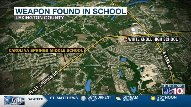 Loaded gun found in Lexington One student's book bag, officials say