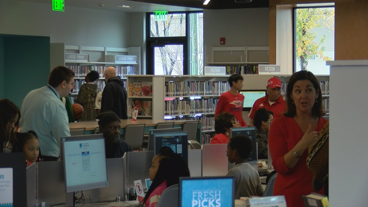 Edgewood library grand opening