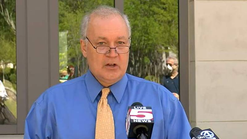 Mount Pleasant Mayor Will Haynie holds a news conference Tuesday afternoon to discuss the...