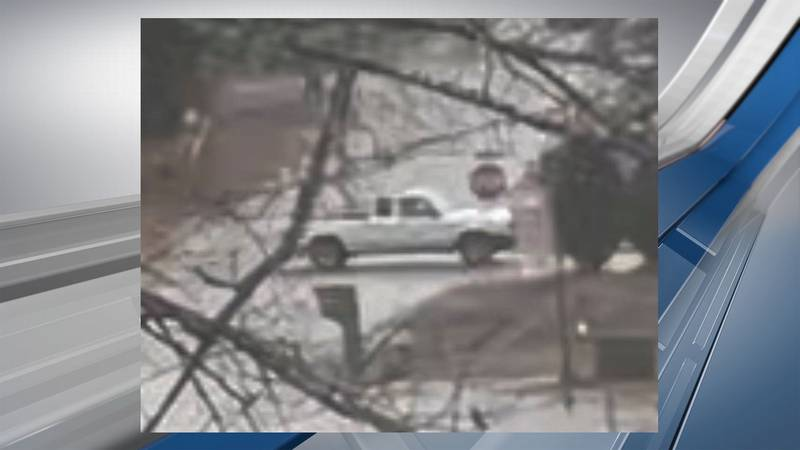 Deputies say this truck was seen Friday leaving the area following a shooting that injured two...