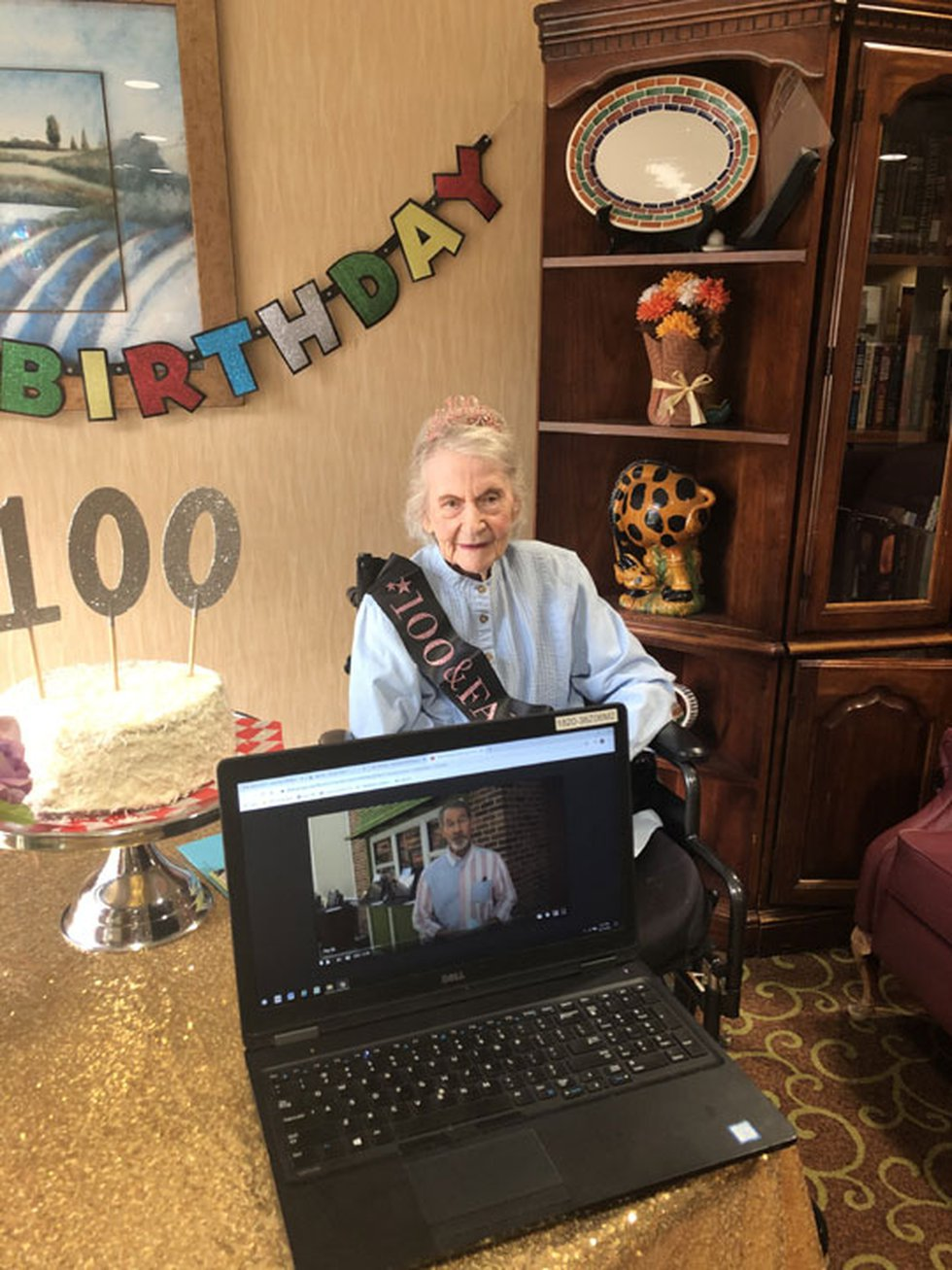 Catherine Spurling celebrated her 100th birthday virtually with the help of friends and members...