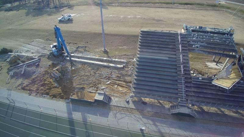 Stadium demolition begins at North Central HS following EF2 tornado