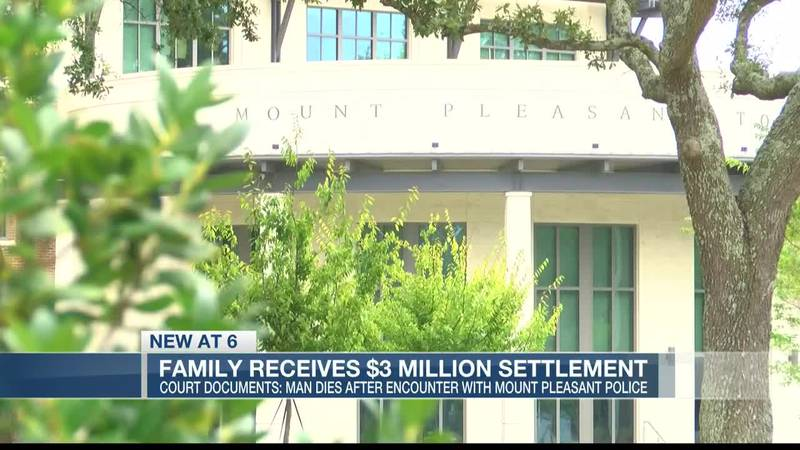 VIDEO: Court Records: Mt. Pleasant to pay family $3M after man dies following encounter with...
