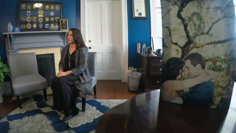Kassy Alia Ray knows the pain the families of the fallen officers are experiencing, as she...