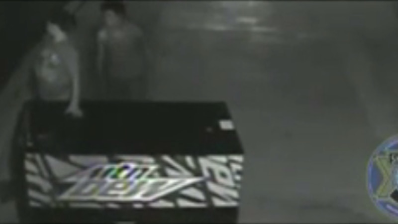 LCSD is looking for these suspects for vandalism of a vending machine. (LCSD)